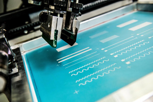 OLED screen printed on textile